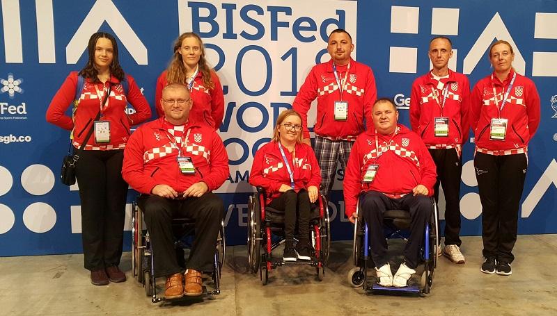 Hrvatska reprezentacija na svjetskom u prvenstvu u boćanju za osobe s invaliditetom u Liverpoolu, kolovoz 2018.